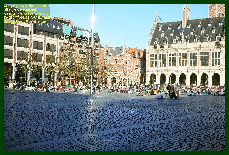 crowds monseigneur ladeuzeplein leuven belgium Eric Hall
