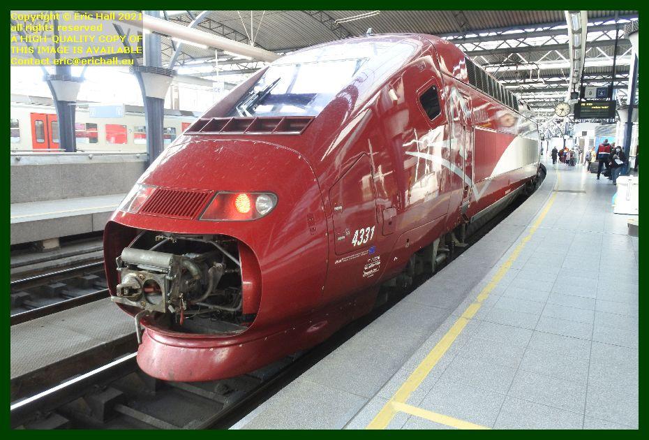 Thalys PBKA 4331 gare de brussels midi railway station belgium  Eric Hall
