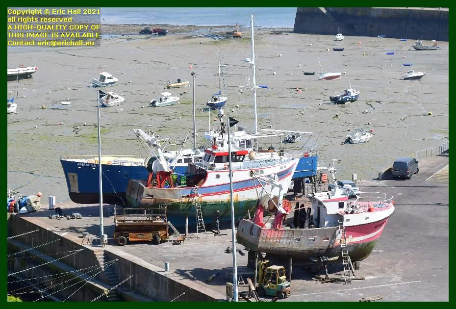 anakena trawlers chantier navale port de Granville harbour Manche Normandy France Eric Hall