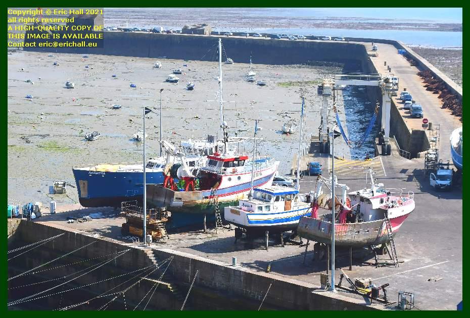 anakena aztec lady fishing boats chantier navale port de Granville harbour Manche Normandy France Eric Hall