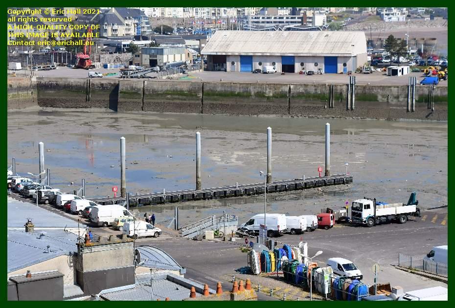 draining inner port de Granville harbour Manche Normandy France Eric Hall