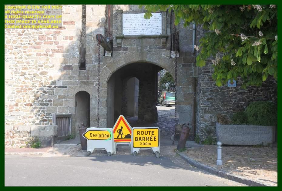 drawbridge pont levis Granville Manche Normandy France Eric Hall