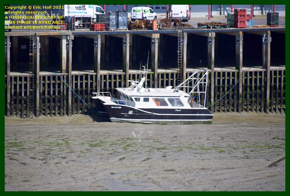 fishing boat grounded out port de Granville harbour Manche Normandy France Eric Hall