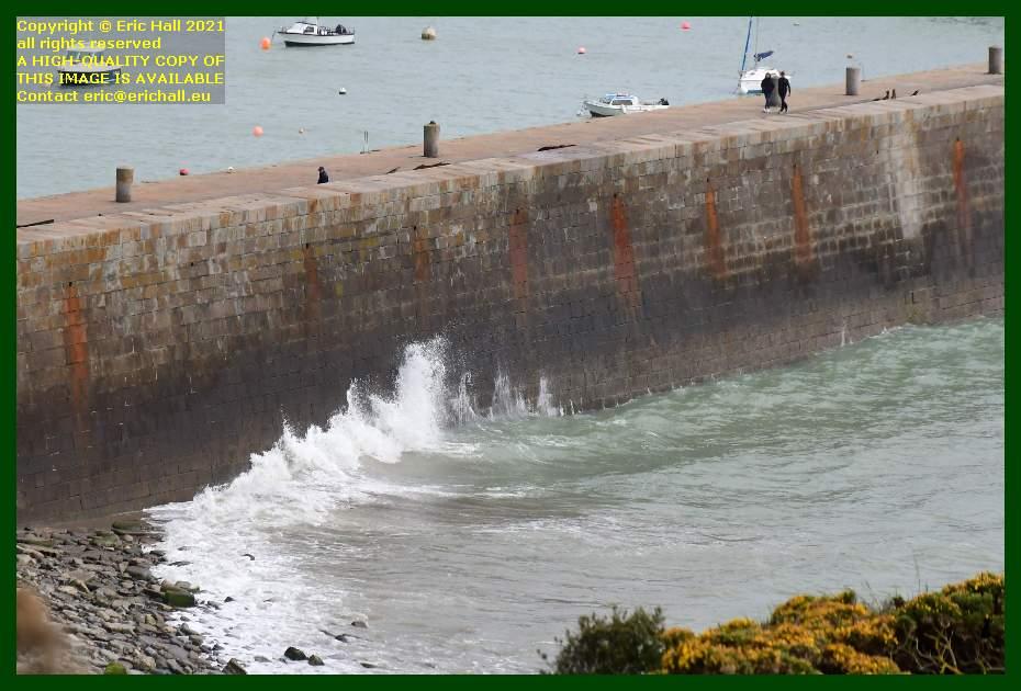 waves port de Granville harbour Manche Normandy France Eric Hall