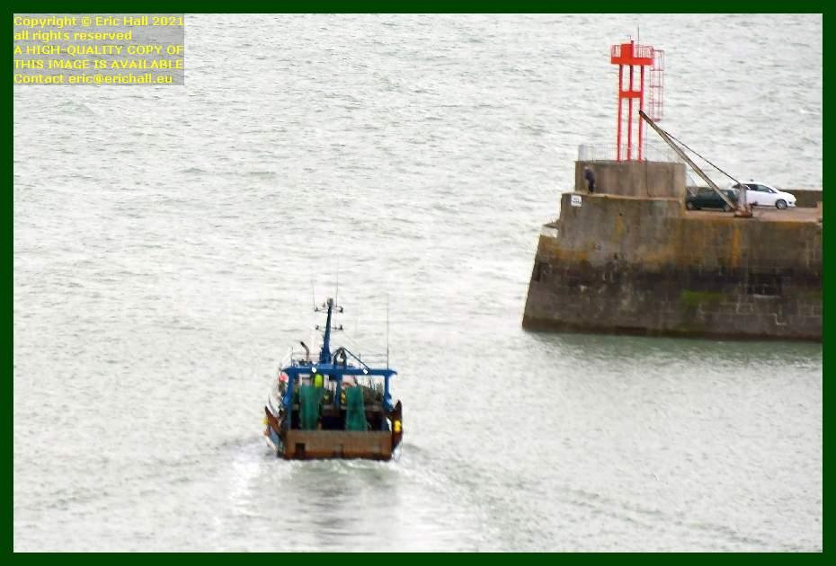 trawler leaving port de Granville harbour Manche Normandy France Eric Hall