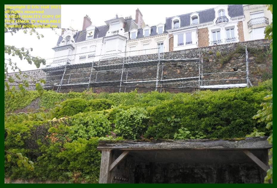 scaffolding rampe du monte à regret Granville Manche Normandy France Eric Hall