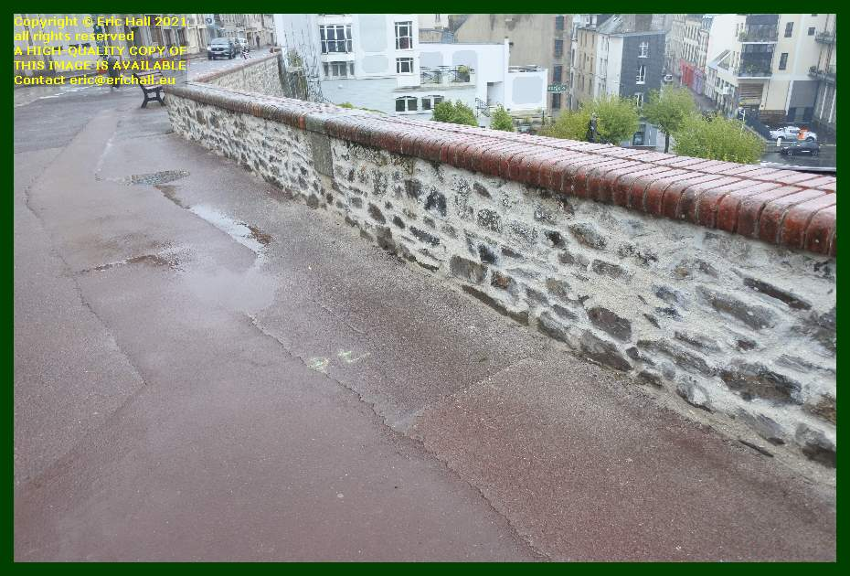repointing wall rampe du monte a regret Granville Manche Normandy France Eric Hall