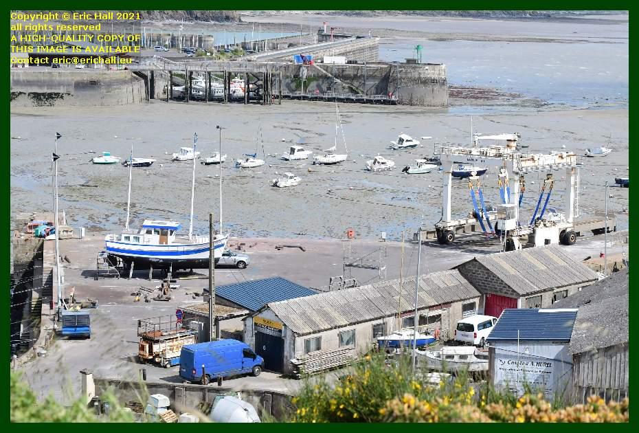 trawler chantier navale port de Granville harbour Manche Normandy France Eric Hall