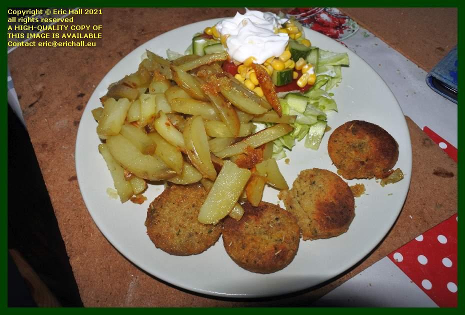 falafel chips salad place d'armes Granville Manche Normandy France Eric Hall