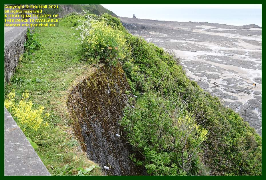 drainage spouts medieval city walls rue du nord Granville Manche Normandy France Eric Hall