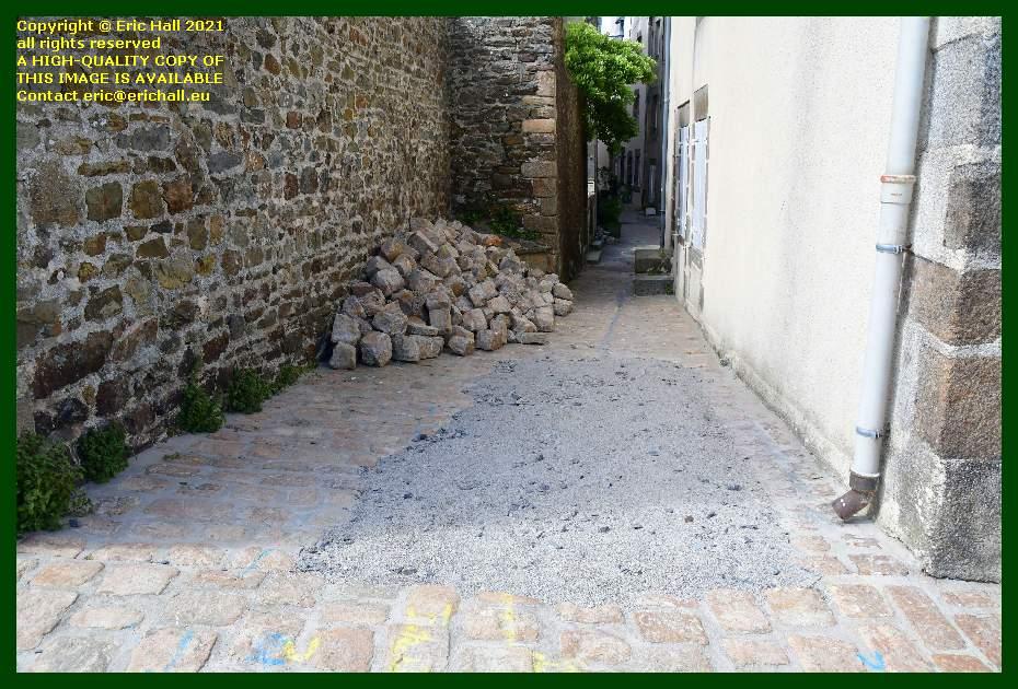 street repairs venelle st michel Granville Manche Normandy France Eric Hall