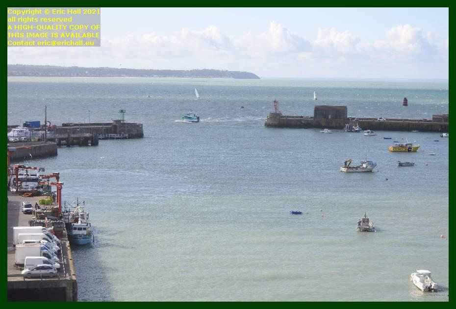 trawler entering port de Granville harbour Manche Normandy France Eric Hall