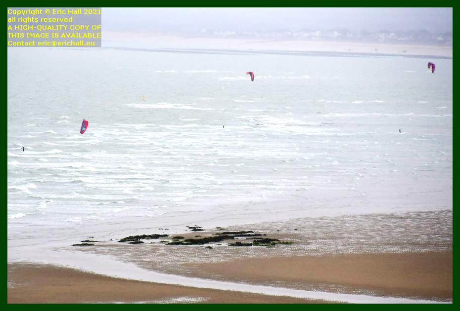 kite surfing beach rue du nord Granville Manche Normandy France Eric Hall