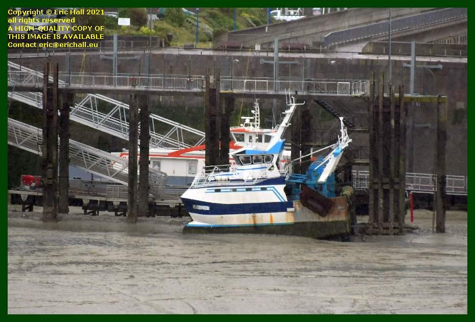 jade 3 trawler chausiais ferry terminal port de Granville harbour Manche Normandy France Eric Hall