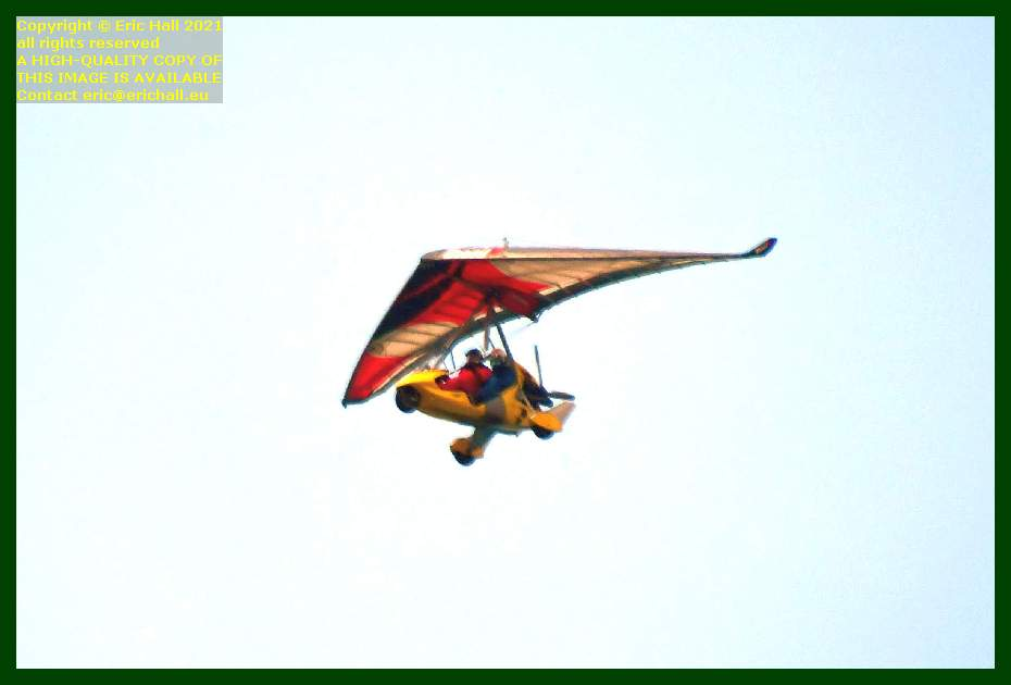 powered hang glider place d'armes Granville Manche Normandy France Eric Hall