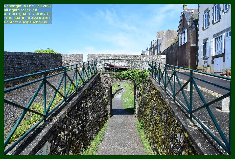 footpath under walls rue du nord Granville Manche Normandy France Eric Hall