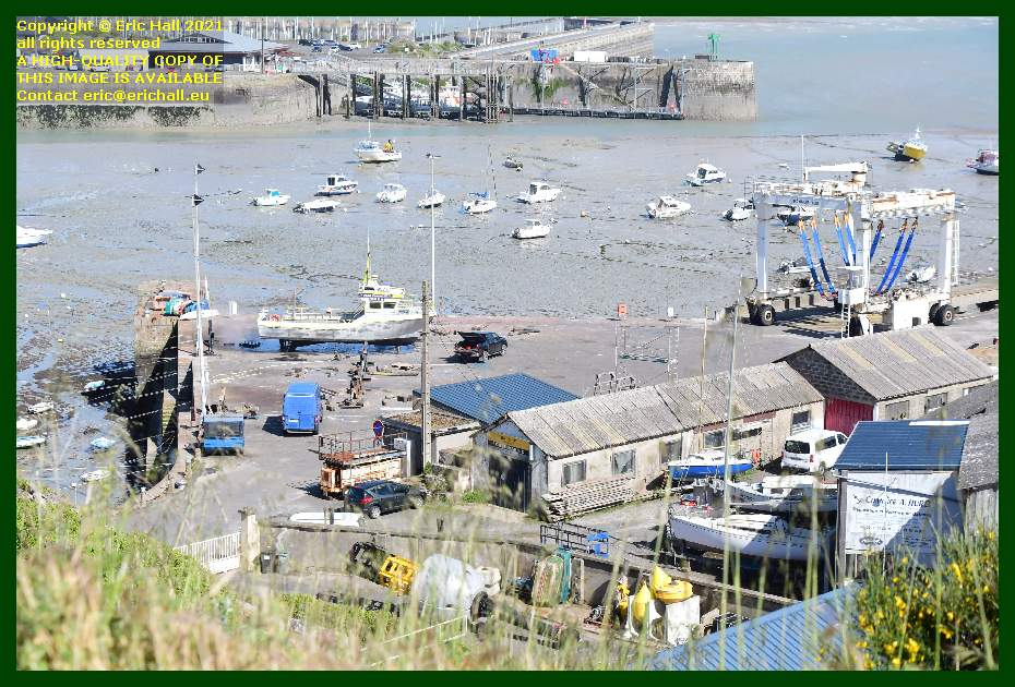 chantier navale port de Granville harbour Manche Normandy France Eric Hall