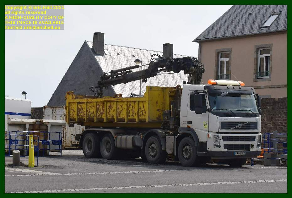 lorry taking away container place d'armes Granville Manche Normandy France Eric Hall