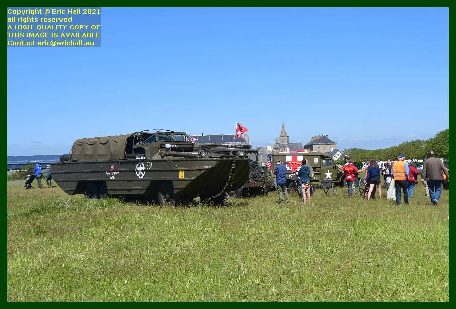 dukw chevrolet lorry jeep dodhe ambulance pointe du roc Granville Manche Normandy France Eric Hall