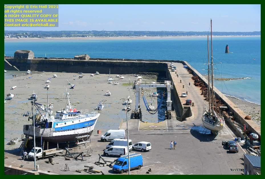 trawler hera rebelle chantier navale port de Granville harbour Manche Normandy France Eric Hall