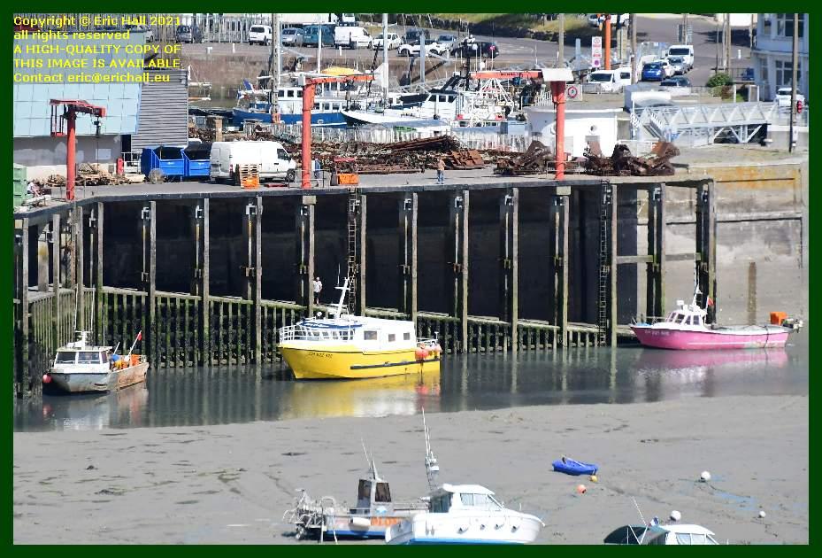 fishing boats unloading port de Granville harbour Manche Normandy France Eric Hall