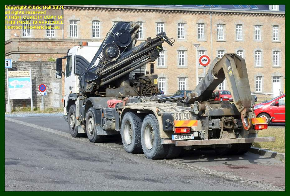 skip lorry place d'armes Granville Manche Normandy France Eric Hall