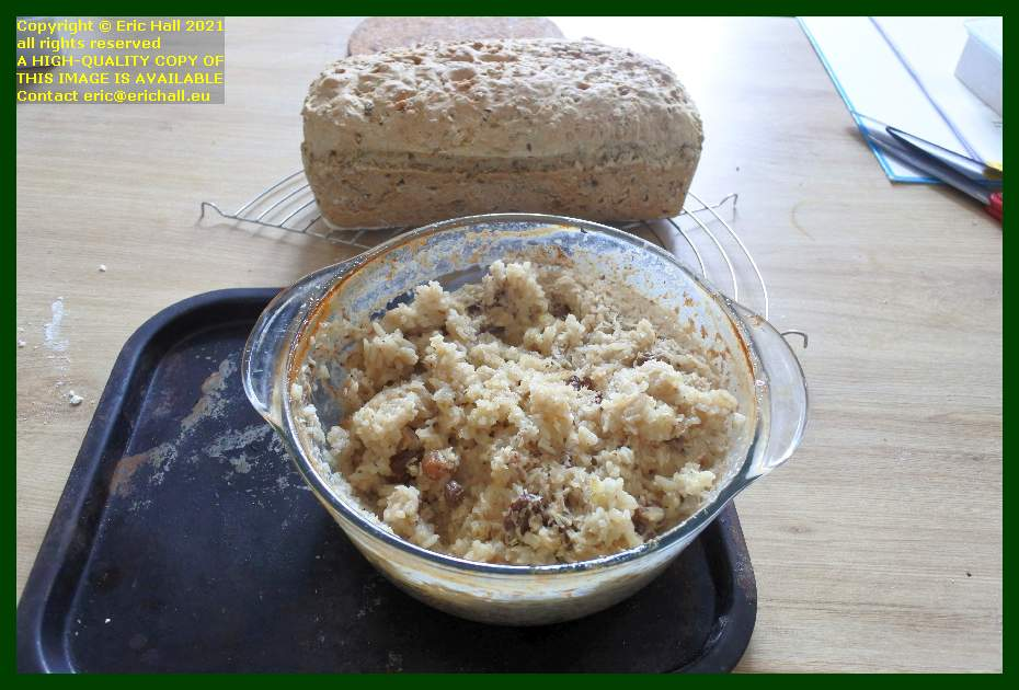 home made bread rice pudding place d'armes Granville Manche Normandy France Eric Hall