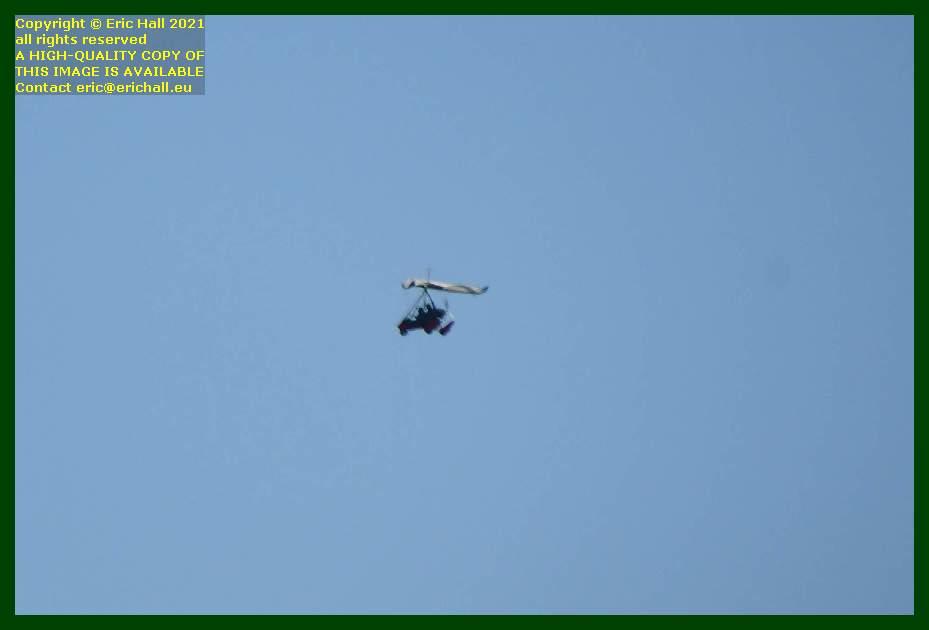 microlight aircraft baie de mont st michel Granville Manche Normandy France Eric Hall