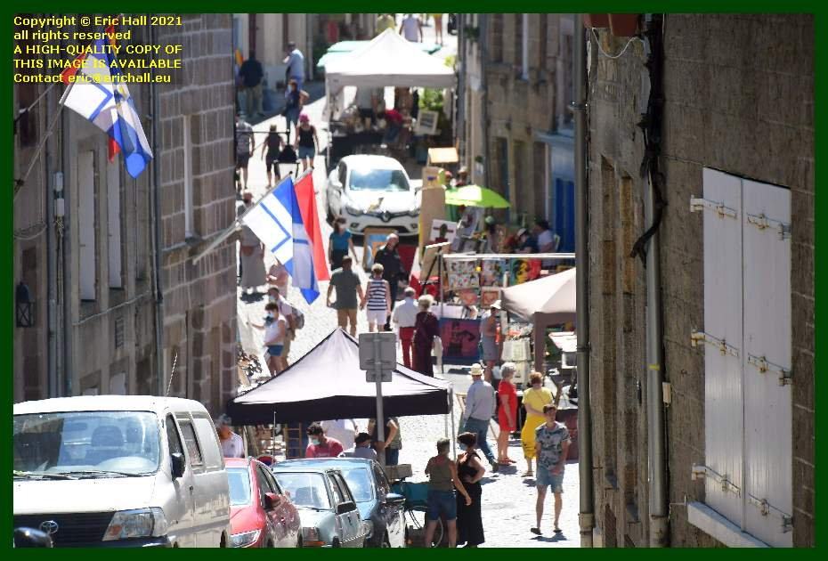 crafts stalls rue notre dame Granville Manche Normandy France Eric Hall