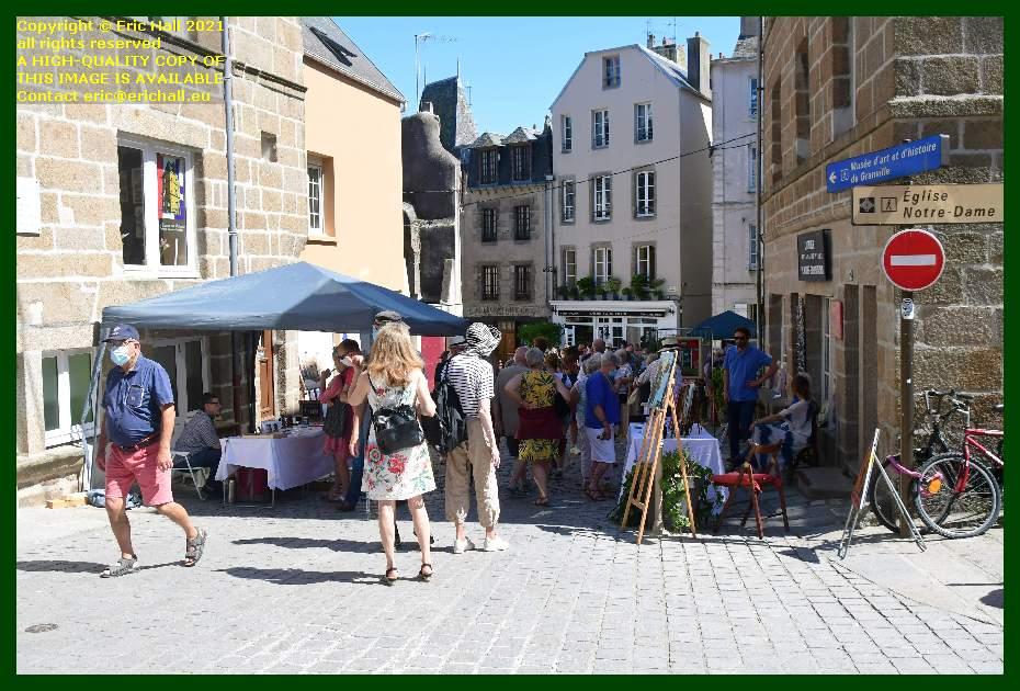 craft stalls rue cambernon Granville Manche Normandy France Eric Hall