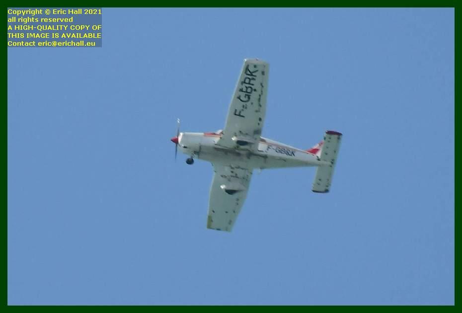 aeroplane f-gbrk Piper PA-28-161 Warrior II pointe du roc Granville Manche Normandy France Eric Hall