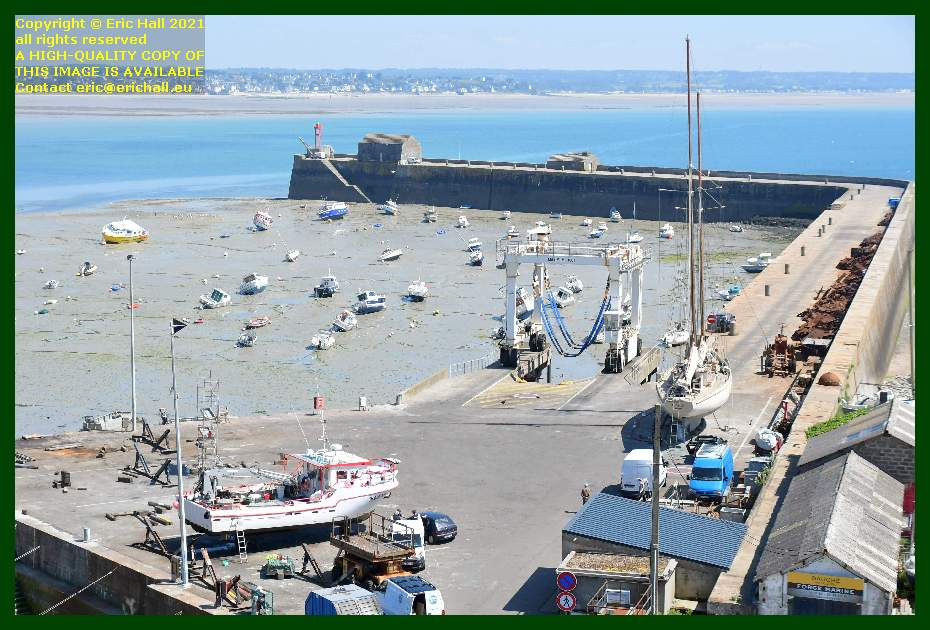 yacht rebelle fishing boat chantier navale port de Granville harbour Manche Normandy France Eric Hall