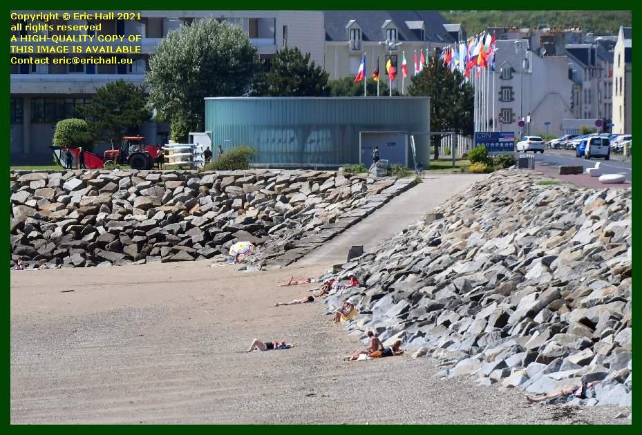 beach Boulevard des Amiraux Granvillais Granville Manche Normandy France Eric Hall