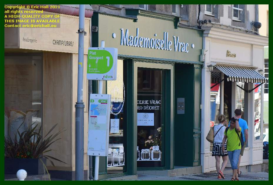 zero waste shop mademoiselle vrac Rue Georges Clemenceau Granville Manche Normandy France Eric Hall