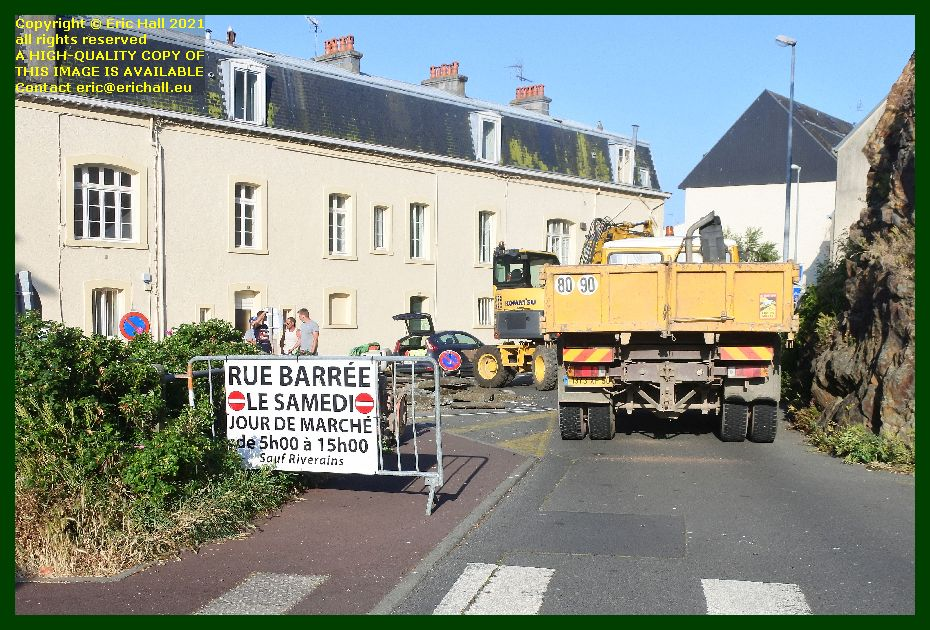 street repairs rue des moulins Granville Manche Normandy France Eric Hall