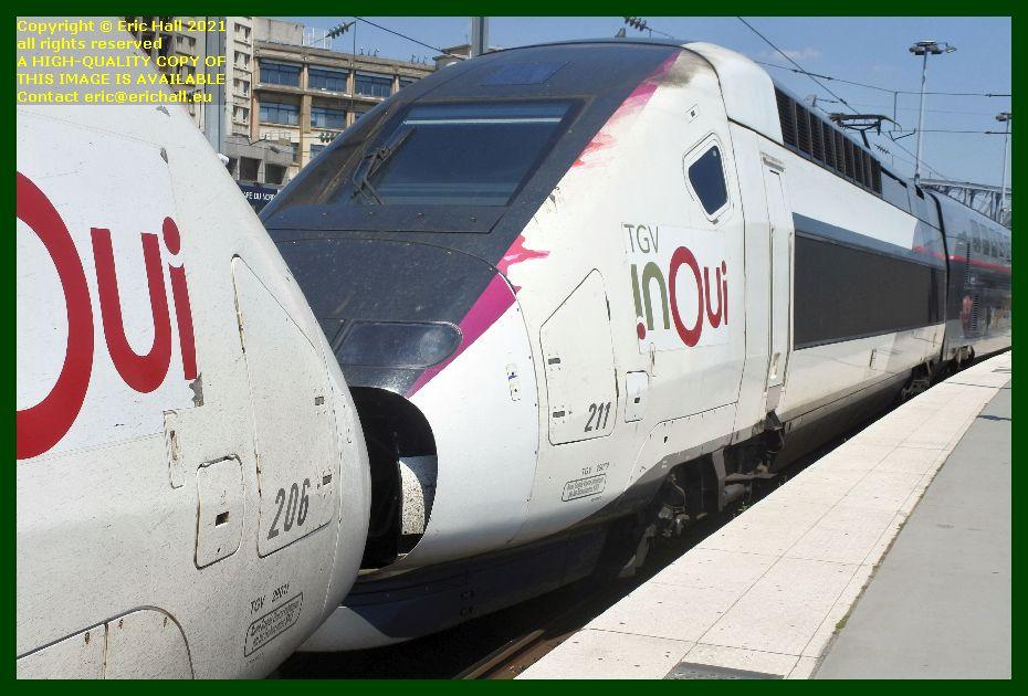 TGV INOUI 206 211 TGV Reseau Duplex gare du nord paris France Eric Hall