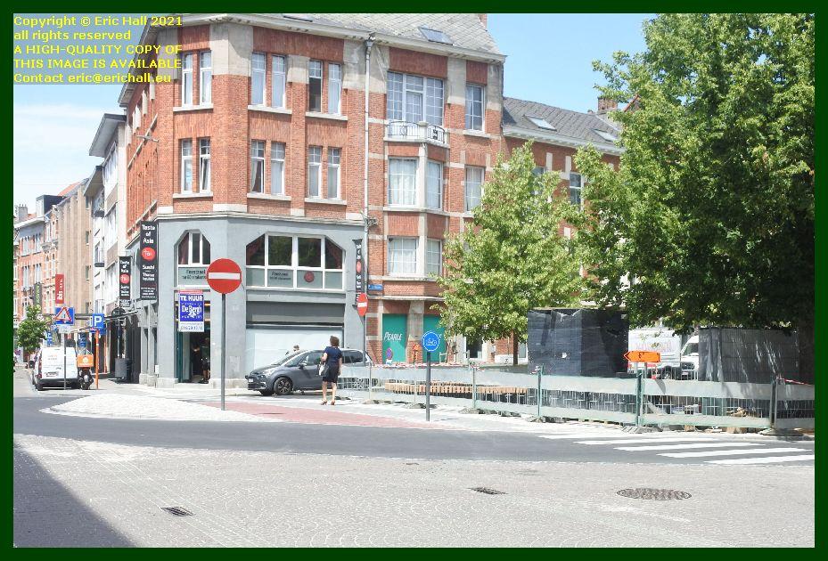road works amerikalaan, Franz Tielemanslaan brusselsestraat Leuven belgium Eric Hall
