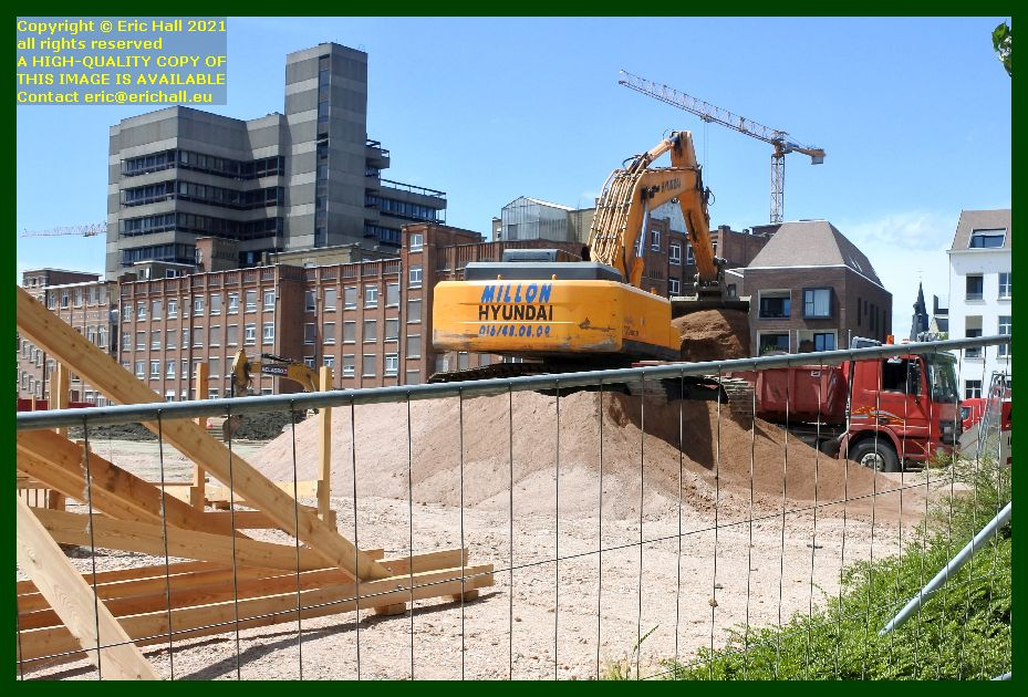 clearing site of sint pieter's hospital brusselsestraat Leuven Eric Hall