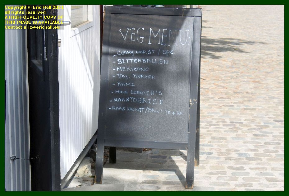 vegetarian menu frittoerist sint jacobsplein leuven belgium Eric Hall