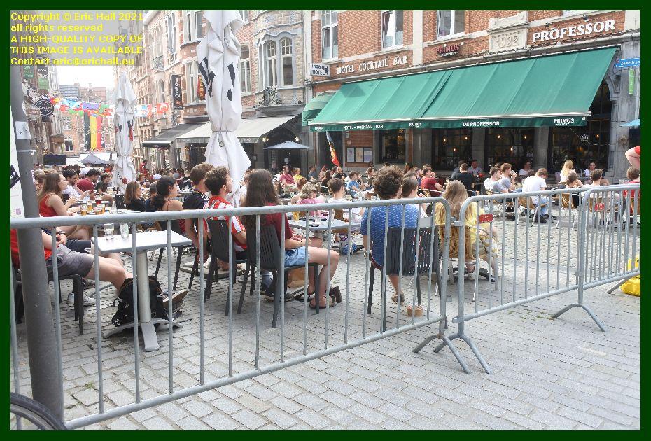 crowds of people watching football zeelstraat leuven belgium Eric Hall
