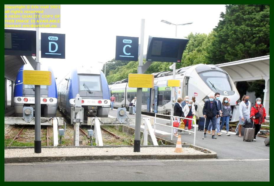 gec alstom regiolis bombardier multiple units gare de Granville railway station Manche Normandy France Eric Hall