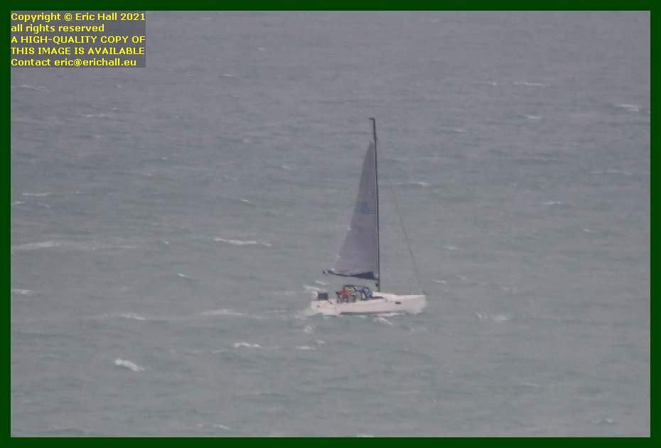 unidentified yacht baie de mont st michel Granville Manche Normandy France Eric Hall