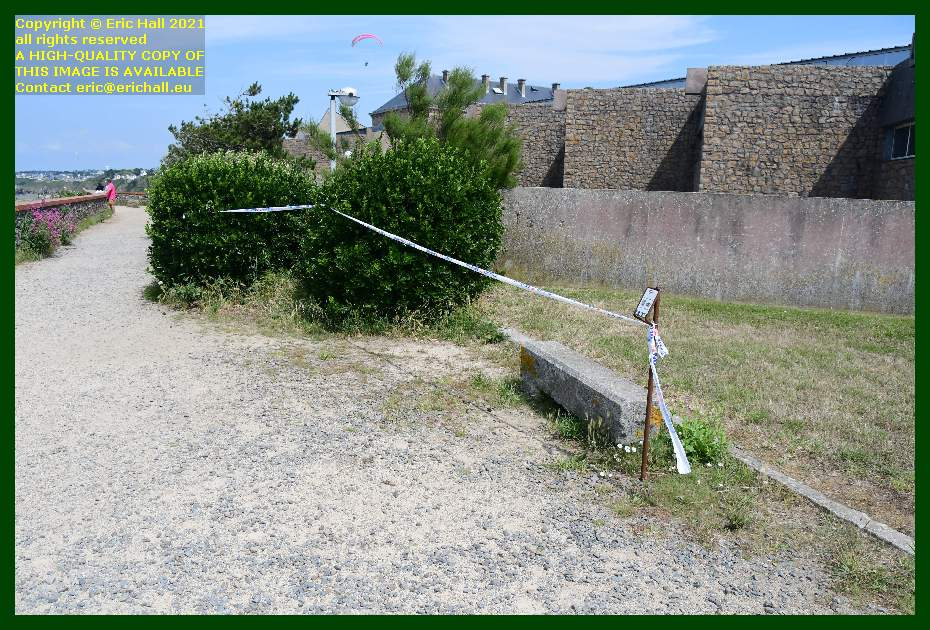 tape marking path pointe du roc Granville Manche Normandy France Eric Hall