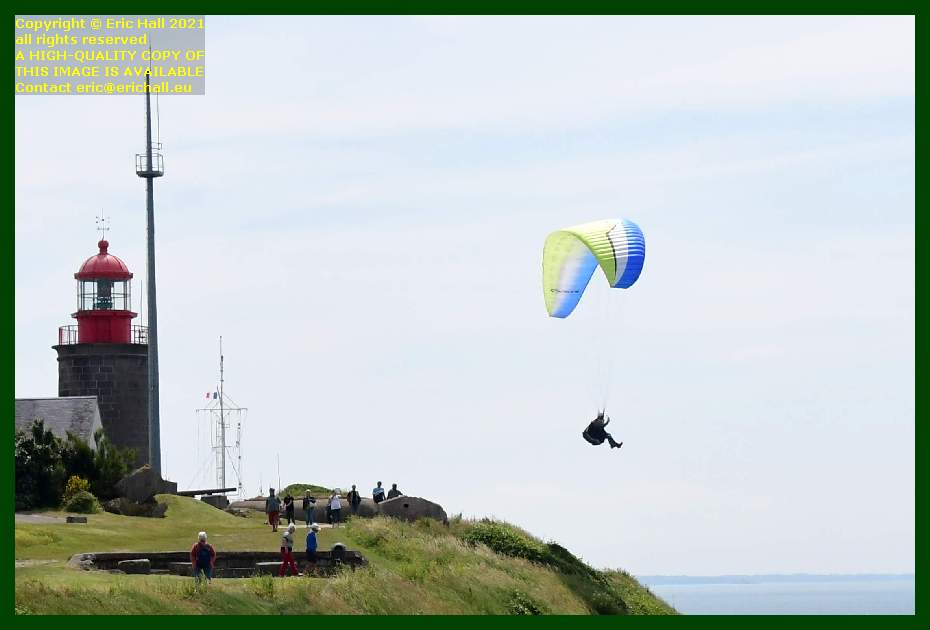 hang glider taking off pointe du roc Granville Manche Normandy France Eric Hall