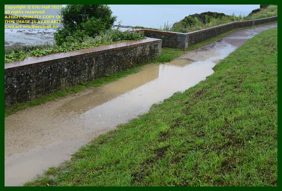 flooded footpath pointe du roc Granville Manche Normandy France Eric Hall