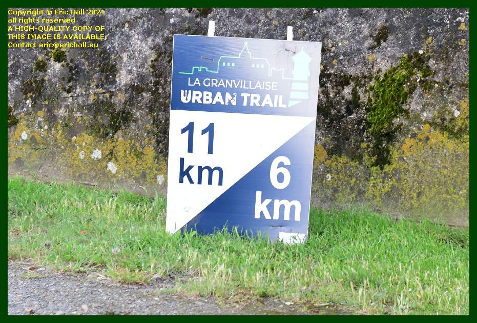 urban trail announcement medieval city walls Granville Manche Normandy France Eric Hall