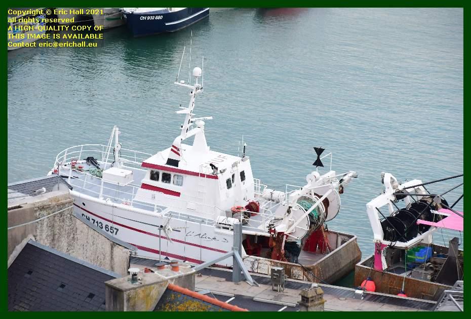 trawler l'alize 3 port de Granville harbour Manche Normandy France Eric Hall