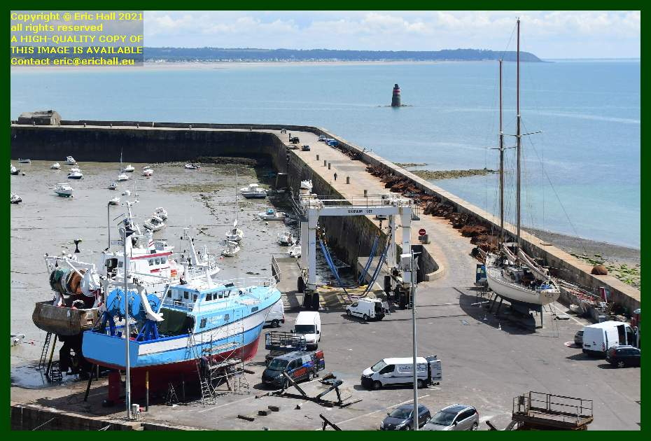trawlers philcathane yacht rebelle chantier navale port de Granville harbour Manche Normandy France Eric Hall