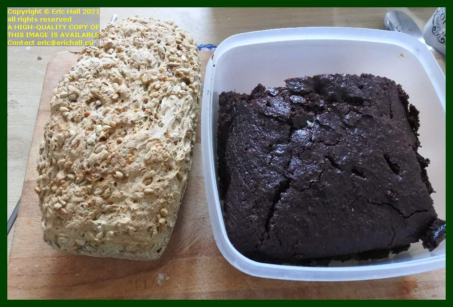 home baked bread chocolate cake place d'armes Granville Manche Normandy France Eric Hall