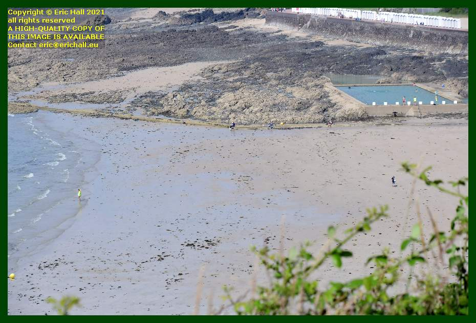 lifeguards tidal swimming pool beach plat gousset Granville Manche Normandy France Eric Hall